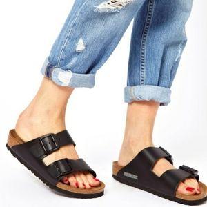 New Birkenstock Arizona Black Sandals 36